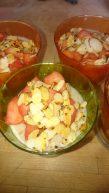 Pudding aux pommes confites